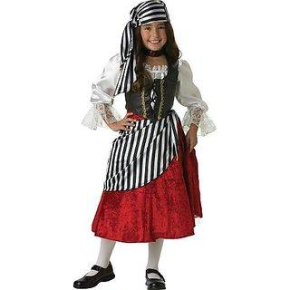 InCharacter Costumes, LLC Girls 2-6X Pirate Mid-Length Dress Set