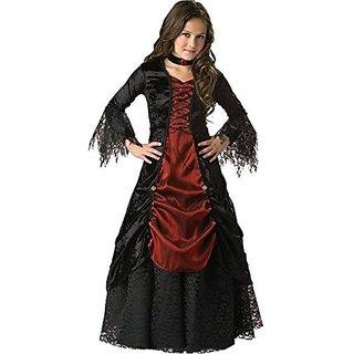 InCharacter Costumes, LLC Girls 2-6X Gothic Vampira Gown Set