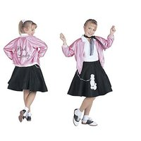 RG Costumes 50s Pink Lady Jacket, Child Small/Size 4-6