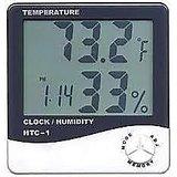 HYGROMETER   Digital Temperature & Humidity Meter + Clock   HTC-1 HD