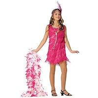 Flapper Child Costume - Hot Pink - Medium - Kids Costum