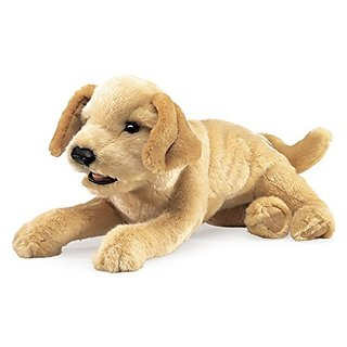 Folkmanis Yellow Labrador Puppy Hand Puppet