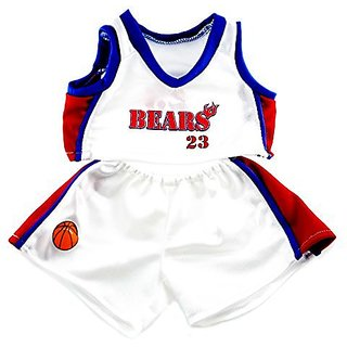 Basketball Uniform Fits 15 Inch Build A Make Your Own Stuffed Bear Or Animals