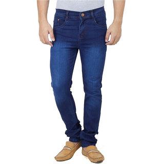 Ansh Fashion Wear Men's Blue Regular Fit Jeans