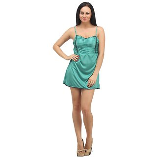 klamotten green satin baby doll dresses buy klamotten green satin baby doll dresses online at. Black Bedroom Furniture Sets. Home Design Ideas