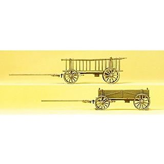 Preiser 30413 Parked Rack &Amp; Box Wagons