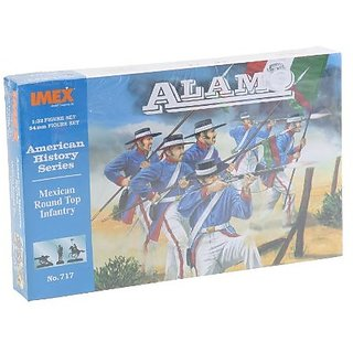 Alamo Mexican Round Top Infantry Figure Set 1/32 Imex