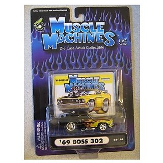 Muscle Machines 69 Boss 302 Black Flames