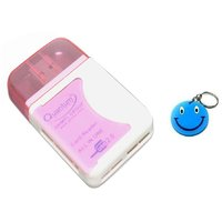 Quantum ALL IN ONE CARD READER With LED 1 Pc With Free Smiley Key Chain.
