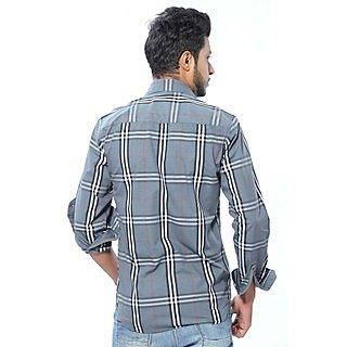 375f746949 Buy Kivon Grey Checked Casual Shirt Online- Shopclues.com