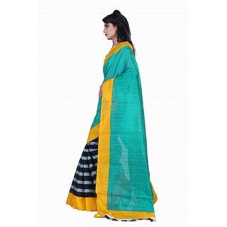 Shri Sai International  Multicolour Bhagalpuri Fancy Party Wear Saree With Blouse Piece