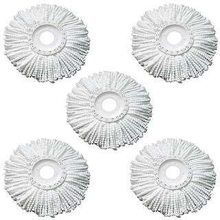 Kudos Replacement Head Refill for 360 Rotating Easy Mop Magic Mop Spin Mop Cleaner Duster pack of 5
