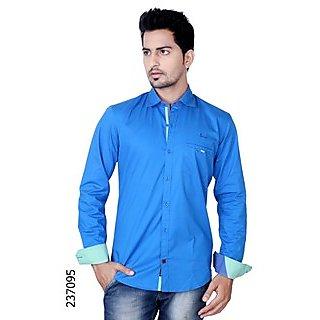 4479533de1 Buy Kivon Blue Slim Fit Casual Shirt Online- Shopclues.com
