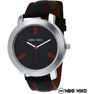 aaf2593ceaa806 Buy Other Round Dail Black pu StrapMens Quartz Watch For Men Online   ₹379  from ShopClues