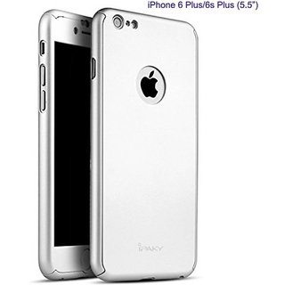 Myclixcart iPaky Back Cover for iPhone 6 Plus / 6S Plus - 360 Degree (Silver)