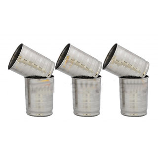 Set Of 6 Stainless Steel Glasses