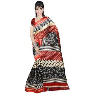 svb sarees bhagalpuri cotton art  silk saree