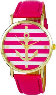Addic Sailor's Sweetheart Pink  Gold Women's Watch