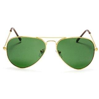 v.s green aviator sunglasses with golden frame
