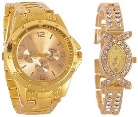 Hans Villa Combo Rosra Deal Offer Fast Selling  Analog Watch For Couple