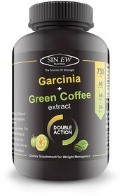 Sinew Nutrition Weight Loss Combo 750mg (Garcinia Cambogia + Green Coffee Bean Extract) - 60 Pure Veg Capsules