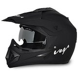 Open Face Helmet-Vega Auto Off-Road Helmet (Dull Black)