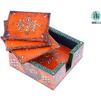 Jaipuri Wooden Coasters(SET OF 5)