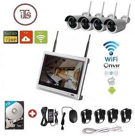 Wireless 4Ch WiFi LCD 11inch NVR 4 Camera Kit