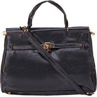 ILU Black Tote Bag Shoulder Bag Hand Held Bag Sling Bag