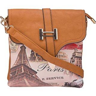 f20da3896580 ILU Sling Bag Cross Body Bag Buttoned Bag Shoulder Bag Sling Bag for Women  Girls Ladies Medum PU Leather