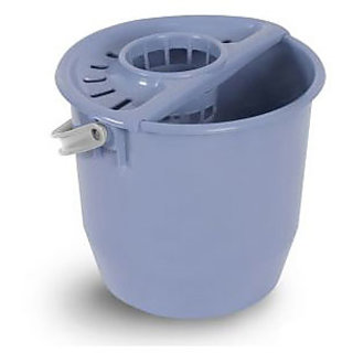 branded Round Bucket With Mop Squezer 17 L Blue F Spain