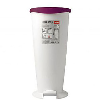 branded Bathroom Bin 2000 White-Orange Spain