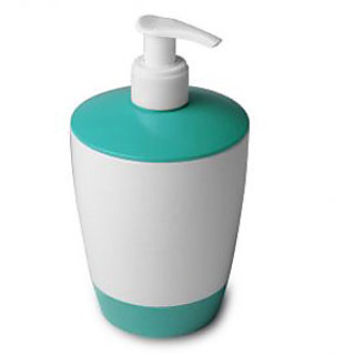 branded Soap Dispenser White-Blue