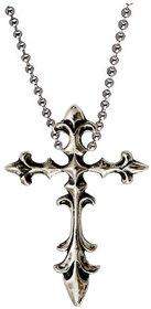 Men Style Jesus Crucifix Cross Pendant Charm Necklace Men Women Silver Rhodium Plated Cross Necklace Pendant For Men and Women