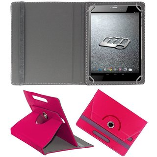the best attitude e9a58 ddf43 DYCP Rotating Flip Cover For Micromax Canvas Tab P480 (Dark Pink)