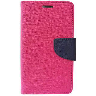 Micromax Canvas HD A116 Mercury Flip Cover Color Pink available at ShopClues for Rs.245