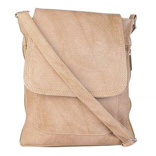 SkyWays Cream  Caramel Colored Messenger Bag