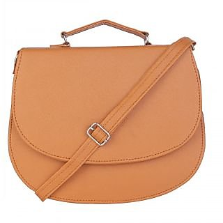 Skyways Walnut Brown Faux Leather Sling Bag For Women