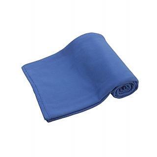 Azaani solid flease ac single bed blanket