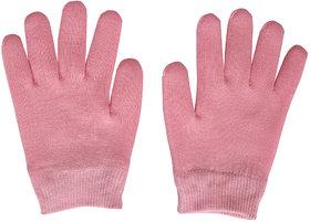 Importikaah Pink Moisturize Gel Spa Gloves Soften Repair Cracked Skin Treatment (Pink)