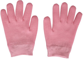 Importikaah Pink Moisturize Gel Spa Gloves Soften Repair Cracked Skin Treatment (Pink)