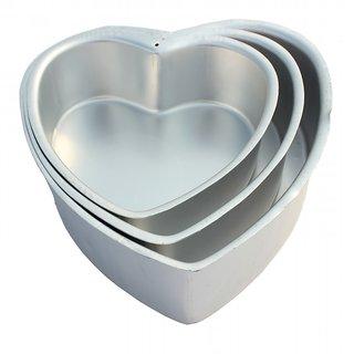 NOOR ALUMINIUM HEART SHAPE CAKE MOULDS - SET - 3