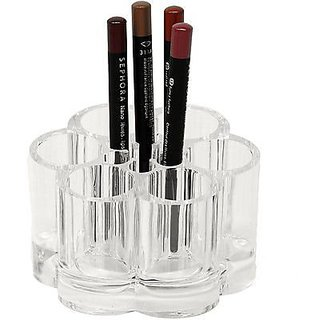 Easydeals Cosmetic Make Up Clear Acrylic Lipstick Nail Paint Organizer with 6 Sections