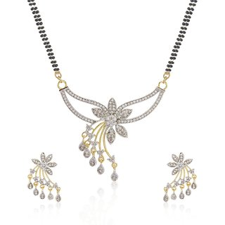 FASHION FRILL AD FLOWER DESIGN MANGALSUTRA  (FF134)