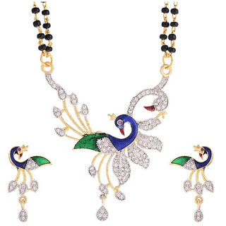 Fashion Frill New AD Dancing Peacock Mangalsutra (FF142)