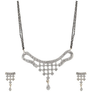 Fashion Frill New AD Dotted Design Mangalsutra (FF149)
