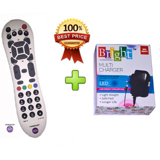 REMOTE FOR VIDEOCON D2H DIGITAL SET TOP BOX WITH MICRO USB MOBILE CHARGER