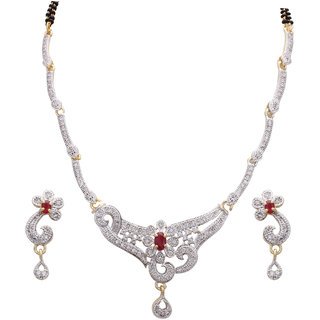 Fashion Frill Exclusive Mangalsutra with Matching Earring (FF218)