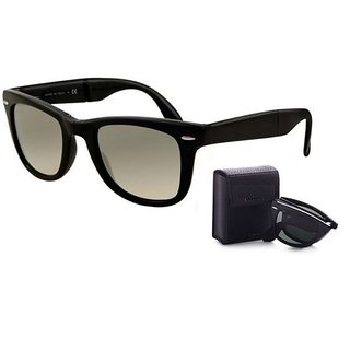 Black Folding Wayfarer Style Sunglases For Men