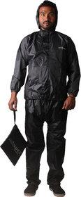 Mototrance Strombreaker Washable Rain Suit With Carry Bag Raincoat (Size-L)  Set of 2
